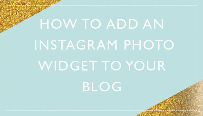 Add an  Instagram Photo Widget toBlog