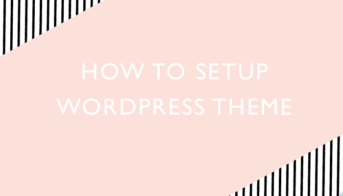 How to setup WordPress theme