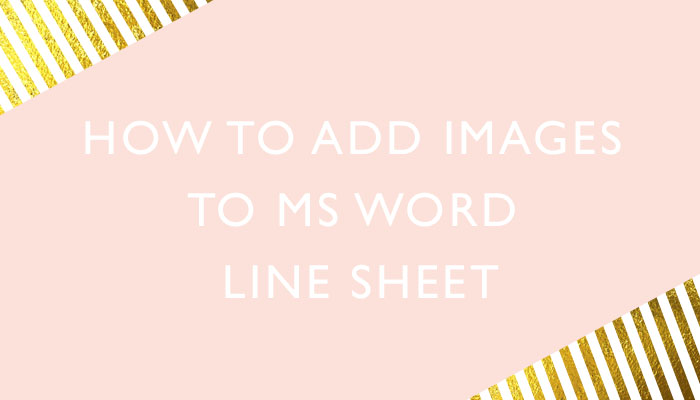 How to add images to MS Word Line sheet