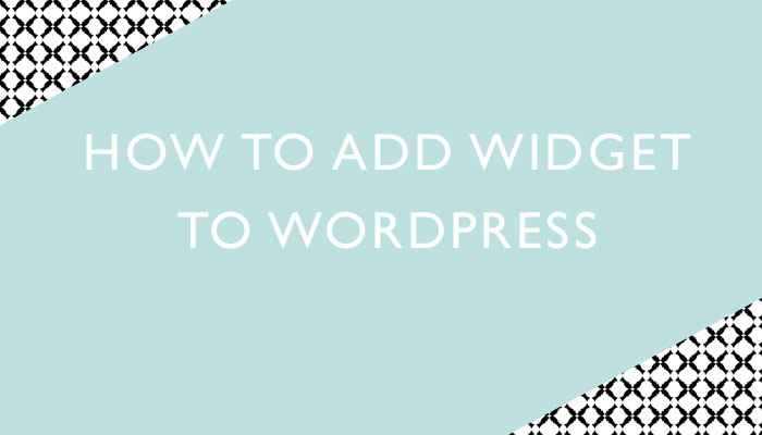 How to add widget to wordpress
