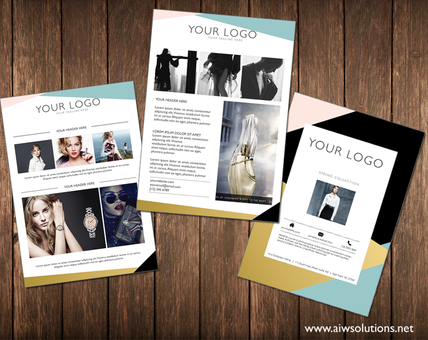 flyer template for photographer, event planner, restaurant, spa ...