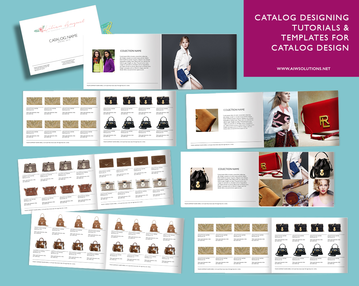 CATALOG DESIGNING TUTORIALS & TEMPLATES FOR CATALOG DESIGN
