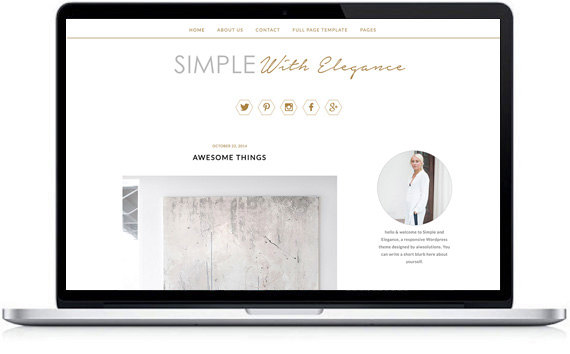 simple wordpress theme
