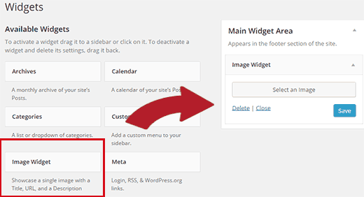Adding an Image in WordPress Sidebar Using Image Widget Plugin
