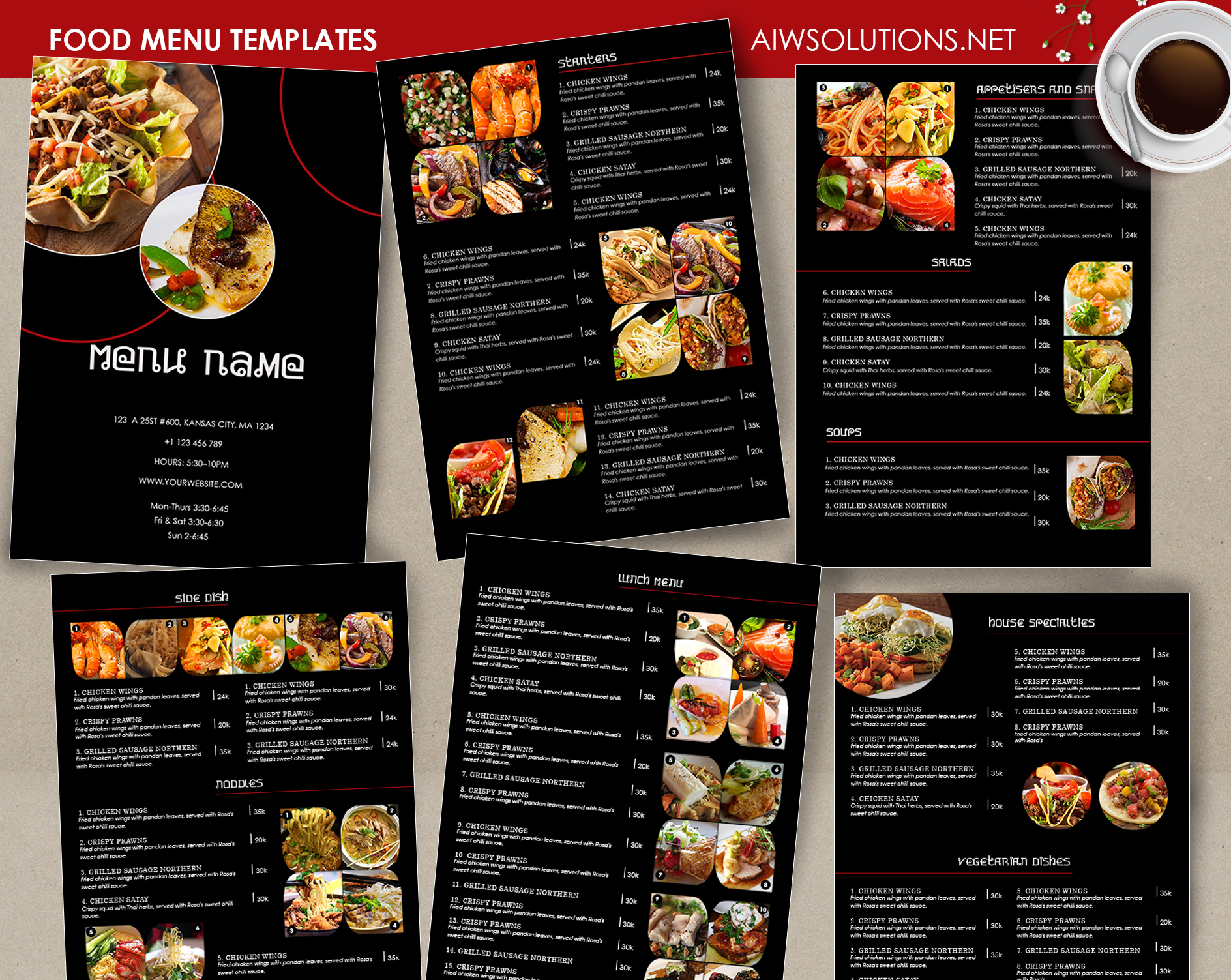 food thai menu