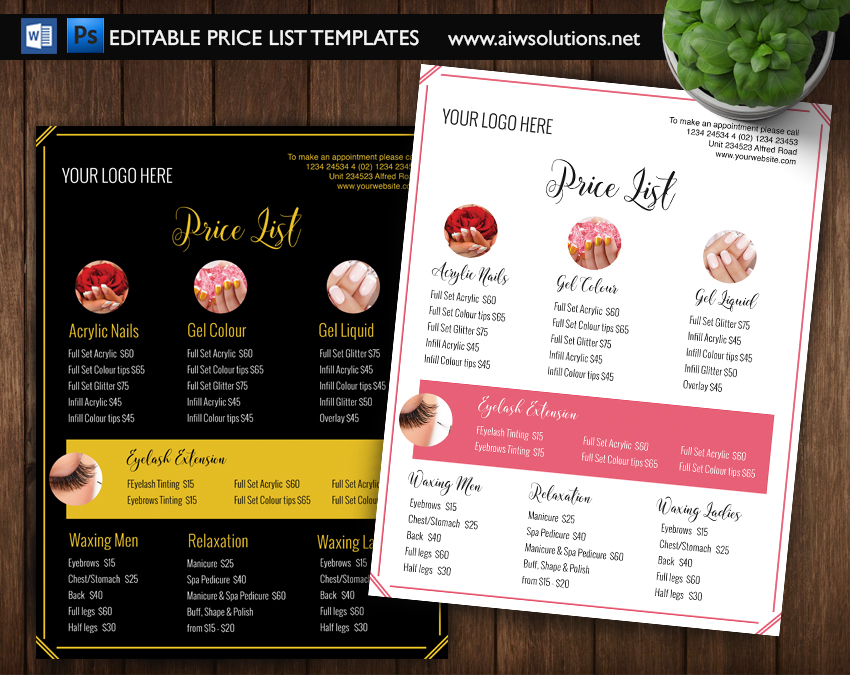 Edit Ms Word Pricing List Template Knowledge 2 Share